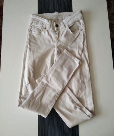 Personalni proizvodi - Jagodina: Duboke bele farmerke. Kao nove, bez ostecenja. Velicina S.Za sva