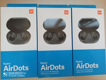 Наушники - Тип подключения: Беспроводные (Bluetooth) - Бишкек: Airdots по низким ценам продаются!!Новые!! Доставка есть по