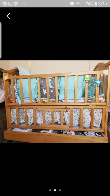 Детская мебель в Кок-Ой: Продаю детскую, кроватку, совершенно новую, ребенок спал пару раз,  с