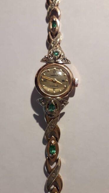 """старинную монету в Кыргызстан: Старинные золотые женские часы """"Чайка"""" с бриллиантами и 8 изумру"""