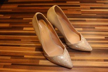 Original ALDO cipele,broj 38,visina potpetice 9cm. Srebrne. Za sve inf - Mladenovac