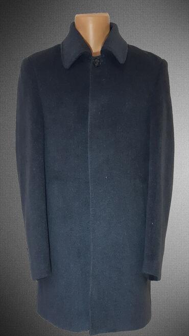 Распродажа! Мужское пальто, классического кроя. Цвет - синий. Размеры