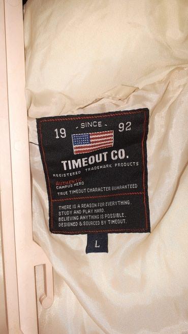 Дутая куртка TIMEOUT Размер L б\у в отличном состояний в Душанбе - фото 6
