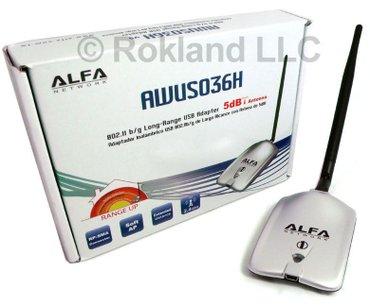 Bakı şəhərində Новый WiFi адаптер Alfa AWUS036H  Характеристики: wireless: ieee
