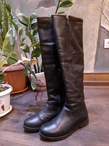 сапоги мужские в Кыргызстан: Зимние сапоги Baver из натуральной кожи  36-й размер Надевала 3-4 раза