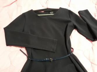 Haljina kolena - Srbija: Legend haljina na dug rukav, duzine do kolena. Uzi model sa kaisem oko