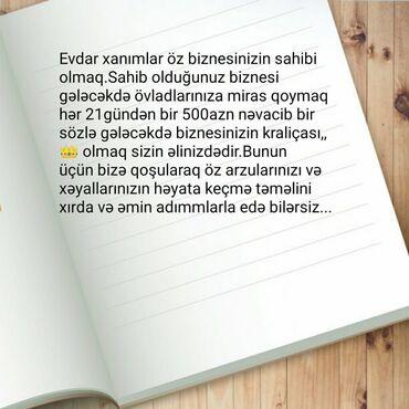 - Azərbaycan: Şəbəkə marketinqi məsləhətçisi. İstənilən yaş. Natamam iş günü