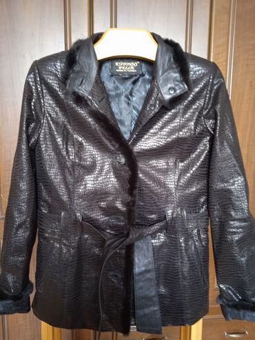 Кожаный пиджак. Норковая обделка. 130$