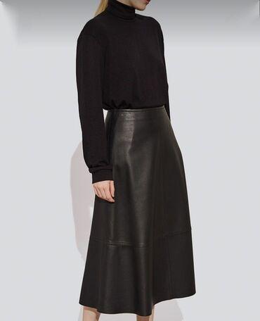Продаю юбку из Эко кожи, черного цвета, 46 размер, обхват талии 80-82