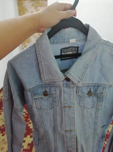 джинсова курточка в Кыргызстан: Джинсовая курточка чистая надо только проутюжить