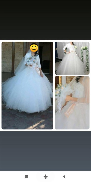 Пышное свадебное платье, в хорошем в Кант