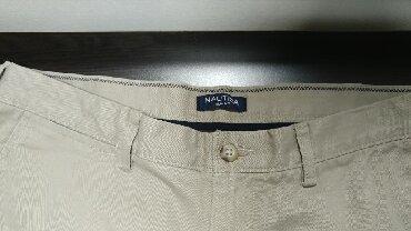 Muške Pantalone | Bor: Nautica muske pantalone krem boje. Velicina 36W 32L. Odlican
