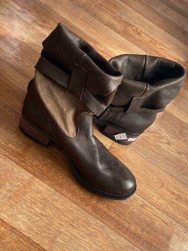 Новые демисезонные женские сапоги кожаные раз 41 цв коричневого