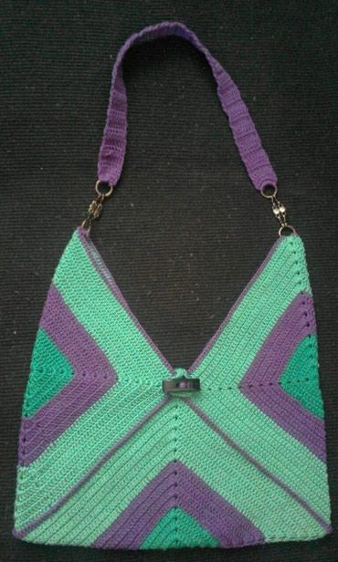 Heklana torba od pamucnog konca 33cm x 33 cm (boje su intenzivnije - Vrnjacka Banja