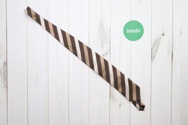 Аксессуары - Украина: Чоловіча коричнева краватка зі смужками     Довжина: 149 см Ширина: 8