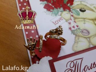 """Кольцо """"ручка младенца"""" из золота 585 пробы в Бишкек"""