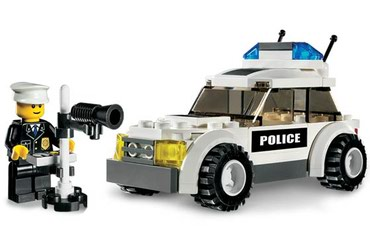Lego 7236 Police Car - Black/Green Sticker Version Used No σε North & East Suburbs