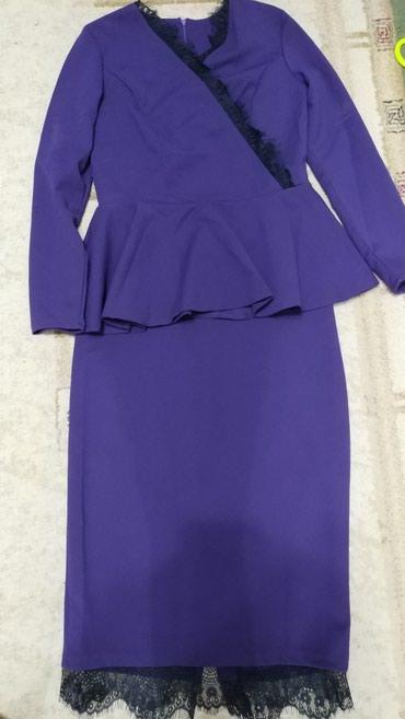 фиолетовое платье в пол в Кыргызстан: Костюм, юбка, блузка, как платье, размер 46, новое