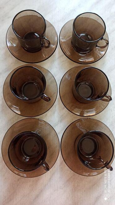 Французский кофейный/чайный сервиз фирмы Duralex (Франция). Новый. Про