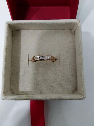 купить диски на 15 бу в Кыргызстан: Кольцо с 7 отличными бриллиантами, красное золото Россия 585 проба
