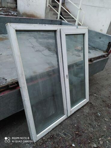 Окна, двери - Бишкек: Пластиковый окна размер высота 130 ширина 120 район шлагбаум состояние