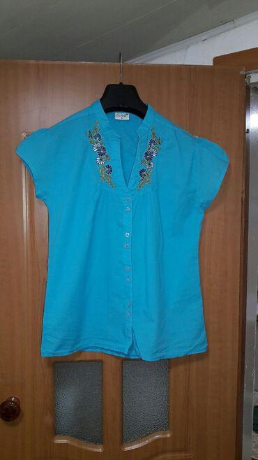 Новая рубашка с коротким рукавом Турция M 44-46 хлопок