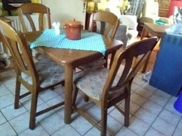 Stol extra stanje ,stolice hrastovina,neunistive,moze samo stol a moze - Sombor