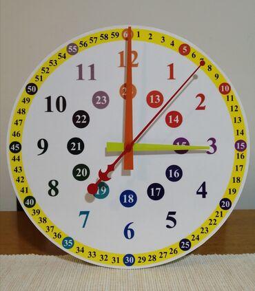 Zidni sat za vase najmladje. Da brze nauce Velicina 28,5 cm
