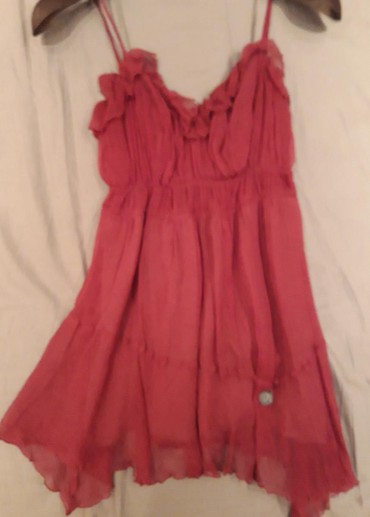 Suknja od ciste svile - Srbija: Original Galliano majica na bretele od ciste svile