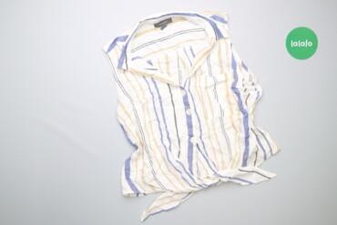 Рубашки и блузы - Цвет: Голубой - Киев: Жіноча літня сорочка у смужку Primark, p. М    Довжина: 49 см Ширина п