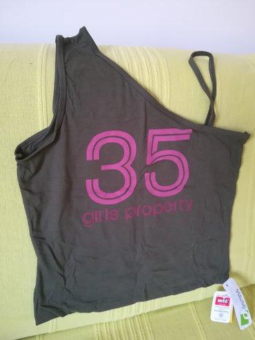 Ženska odeća | Vranje: Nova pamučna majica bratela sa jedne strane vel M, obim grudi 76 cm