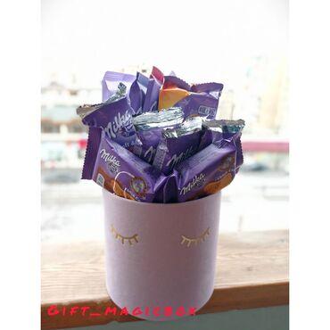 - Azərbaycan: Milkadan hazırlanmış gift box. 😍🤤Daha çox gift box üçün Instagram ;