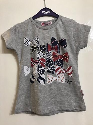 lenne 122 в Кыргызстан: Продаю новые турецкие футболки для девочек. Размеры: белая -110, 116