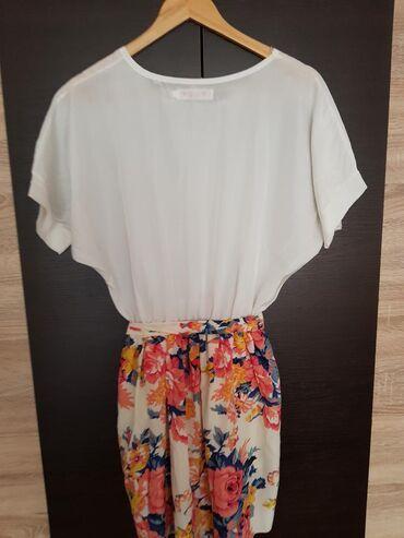 Haljine | Negotin: Cvetna haljinica vel. L, duzina 90cm, struk 30cm