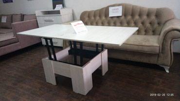 стол трансформер чёрного цвета в Кыргызстан: Стол трансформерразмеры: в сложенном виде 80*80в разложенном виде