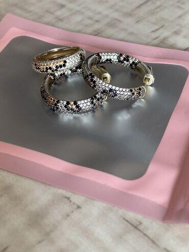 отдам видеокарту даром в Кыргызстан: Красивый комплект из серебра с позолотой (золотое напыление) 925 пробы