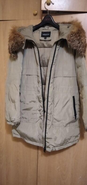Зимняя,теплая куртка!мех натуральный,сьемный (лиса) состояние