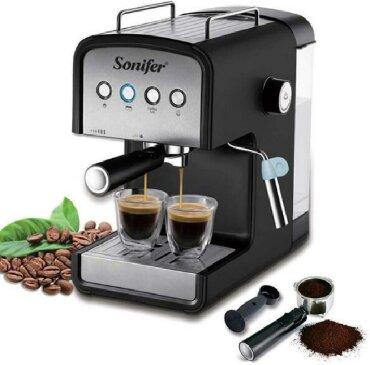запчасти для кофеварок delonghi в Кыргызстан: Sonifer SF-3529 Espresso Machine 850 Вт Кофеварка Молоко Вспениватель