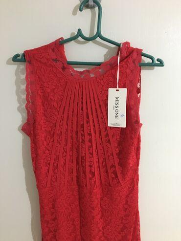 Haljina crvene boje, nova, nenosena, velicine M