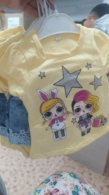детские двойки в Кыргызстан: Детская двойка джинсовая шорта 1-2-3-4 размеры остались