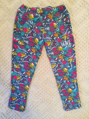 Dečija odeća i obuća - Pirot: Contrast deblje helanke- pantalone, nove. Imaju dzepove napred. Vel. 6