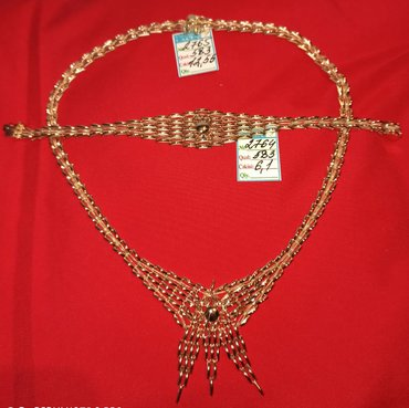 Qızıl boyunbağı 18.65 gram ( kolye ) və qolbağı dəsti. Ayrı ayrı da
