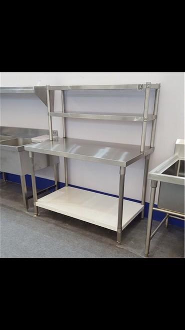 Услуги - Чаек: Полка на стол 1,80м (3 этажей) (нержавейка)