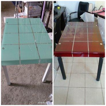 Кухонные столы (новые) размер: 120*70. есть 3 расцветки в Бишкек