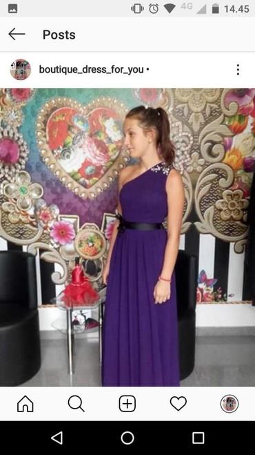 Pantalone maxi me - Srbija: Ljubicasta maxi haljina
