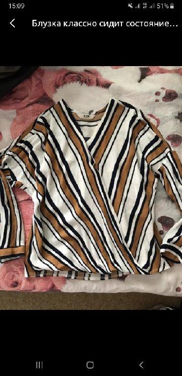 Рубашки и блузы в Кыргызстан: Стильная рубашка, хлопок, в хорошем состоянии, размер стандарт