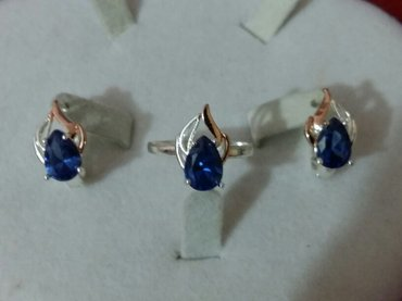 наборы с различными камнями серьги и кольцо. ( бижутерия с серебряным  в Бишкек