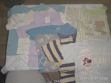 бодики с коротким рукавом в Кыргызстан: Детские футболки. Футболка. С коротким рукавом. От 0 до 2 лет. 8 шт