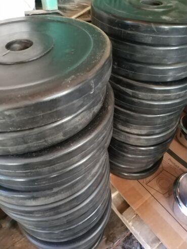 Блины для гантелей для любительских штанги по 3 кг 750 г обрезиненные