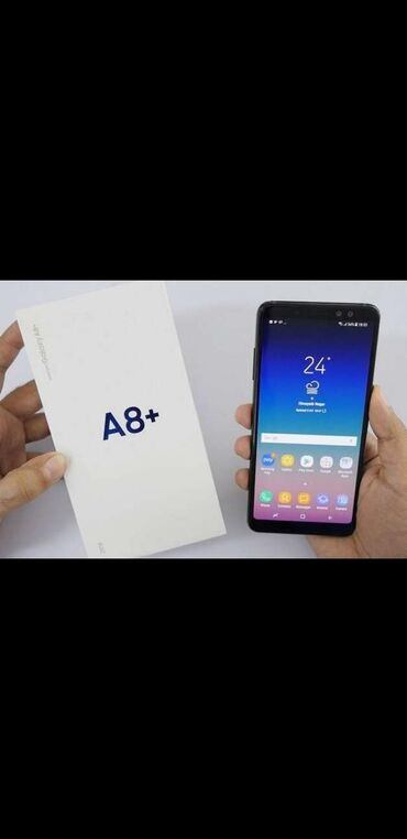 в Кара-Суу: Б/у Samsung Galaxy A8 Plus 2018 32 ГБ Черный
